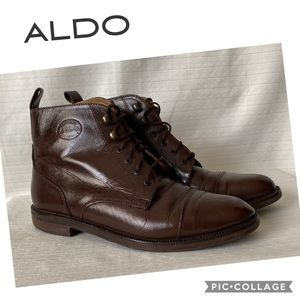 Aldo Brown Lace Up Ankle Boots